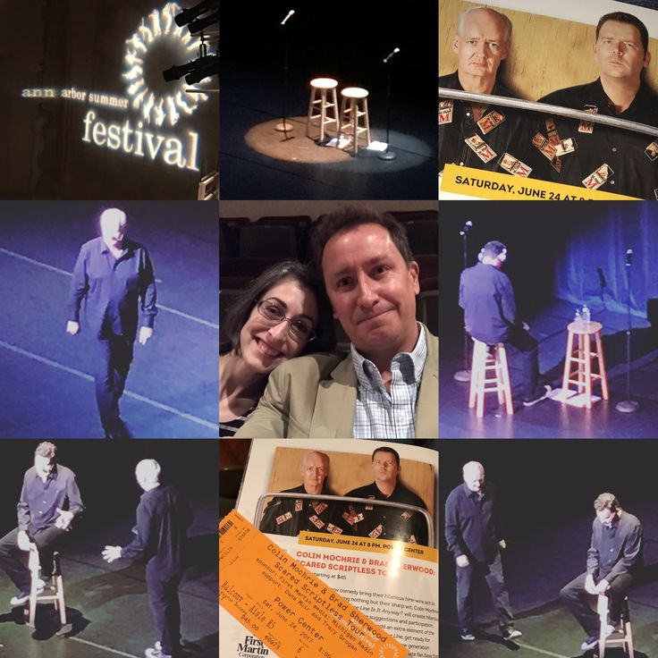 My review of #A2SF's #ColinMochrie and #BradSherwood improv show #ScaredScriptless - https://reelroyreviews.com/2017/06/26/ann-arbor-summer-festival-colin-mochrie-brad-sherwood-scared-scriptless-tour/  #drewcarey, #whoselineisitanyway, #annarbor, #annarborsummerfest, #powercenter, #improv, #comedy, #aishatyler, #funny, #wildeawards, #theatre, #michigan, #audienceparticipation, #grouchomarx