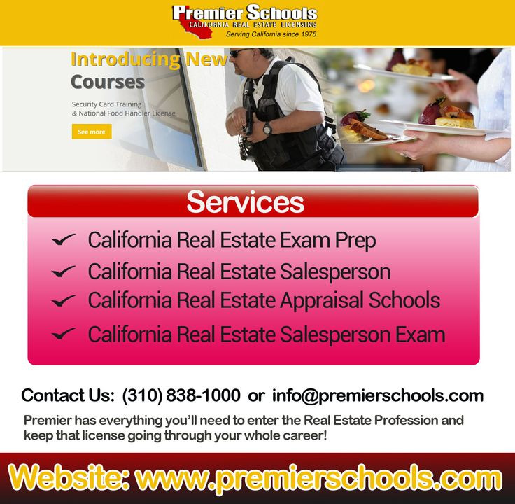 Want to reckon on the team of leading real estate contractors in California? Then, attend the California Contractors license exam with full preparation and confidence with the help of study materials of Premier Schools Inc. We offer both online real estate courses and traditional home-study courses that give you the knowledge and test awareness you need to pass your state exam the first time.