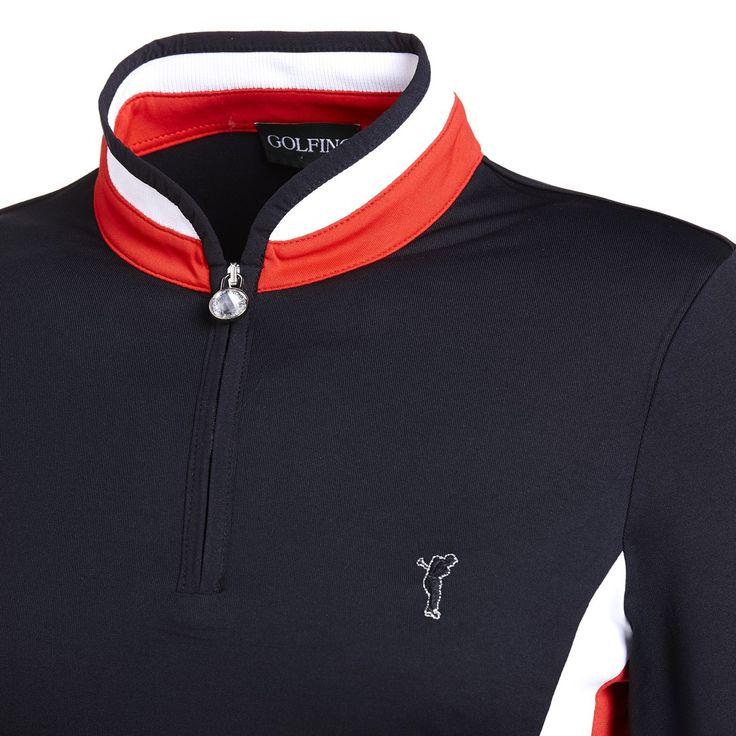 Golfino Maglia sportiva con zip (Dry Comfort) Nero acquista on line