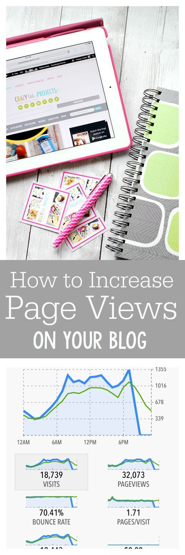 Blog Tips: How to Increase Page Views | Crazy Little Projects #blog, #blogging, blogging, business, entrepreneur