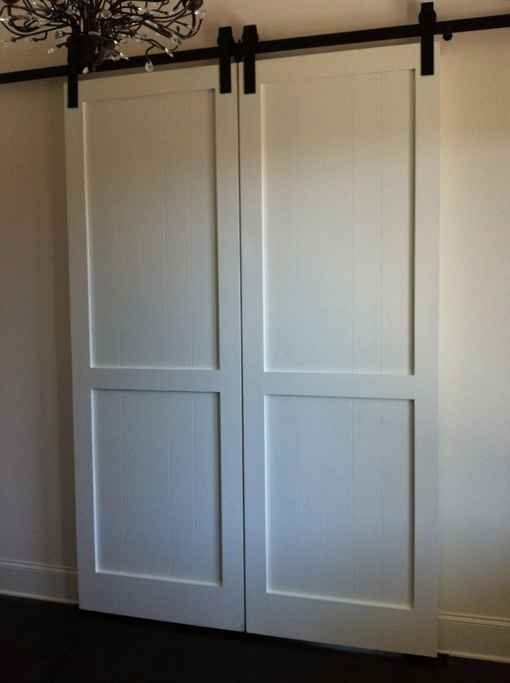 bedroom closet double doors double barn doors interior bathroom