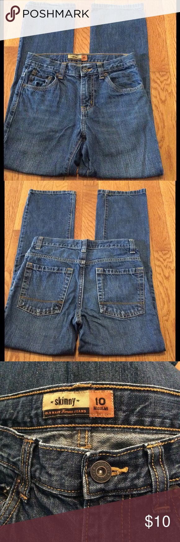 Boy's Old Navy Skinny Jeans size 10R In good condition Old Navy Bottoms Jeans