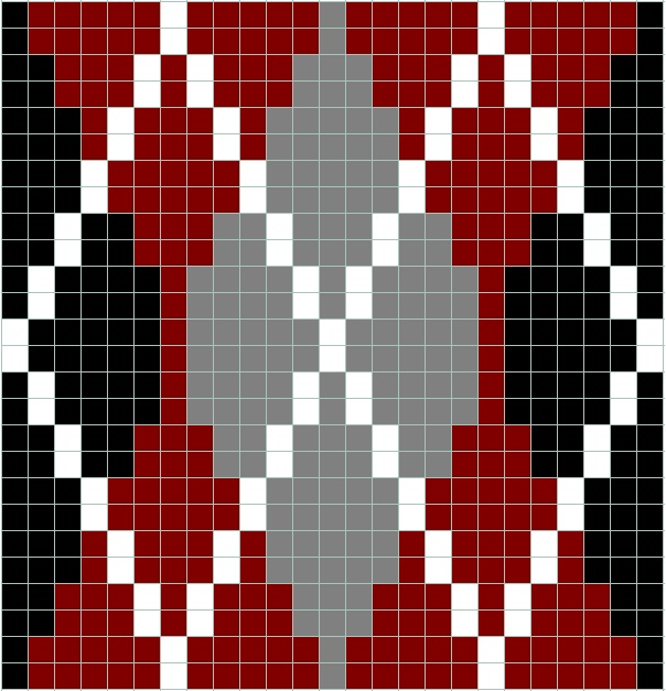 Argyle Knitting Pattern Chart : 17 Best images about For Marie on Pinterest Perler bead patterns, Snowflake...