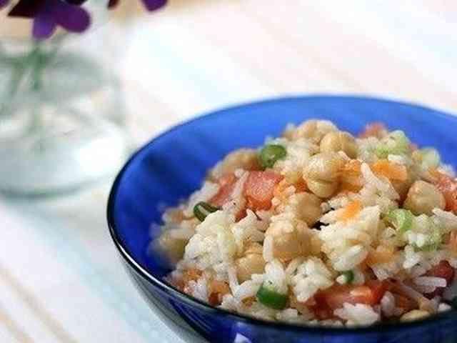 ひよこ豆のライスサラダ クミン風味