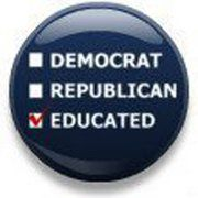 My political affiliation: Educated.