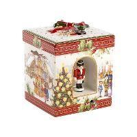 Villeroy & Boch, 'Christmas Toys' Музыкальная шкатулка 'Рождественский рынок' большая, квадратная, фарфор, 21 см