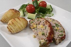 Farsbrød med grønsager