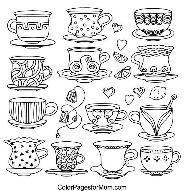 Hearts Coloring Page 6