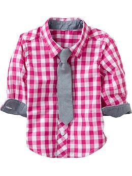 862d701dcc3d Gingham Shirt   Necktie Sets for Baby