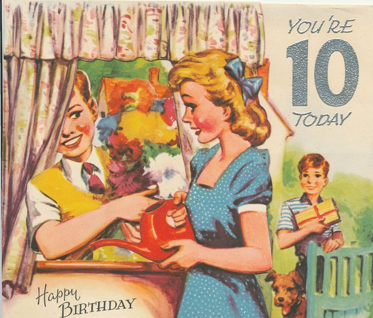 Birthday Card For A 10 Year Old The Boy Pops Into Window Greetings