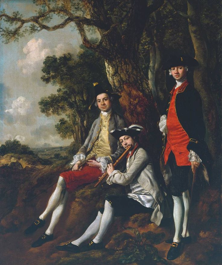Thomas Gainsborough 'Peter Darnell Muilman, Charles Crokatt and William Keable in a Landscape', c.1750