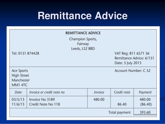10 Free Remittance Advice Templates Word Excel Pdf