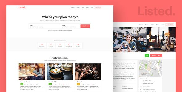 Directory Listing Html Website Template Listeed By Surjithctly