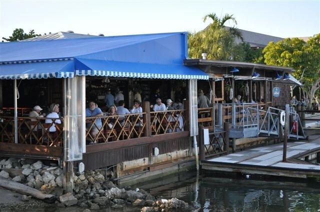 The Dock Restaurant, Naples, FL - Grouper Sandwich or Havana cuban sandwich
