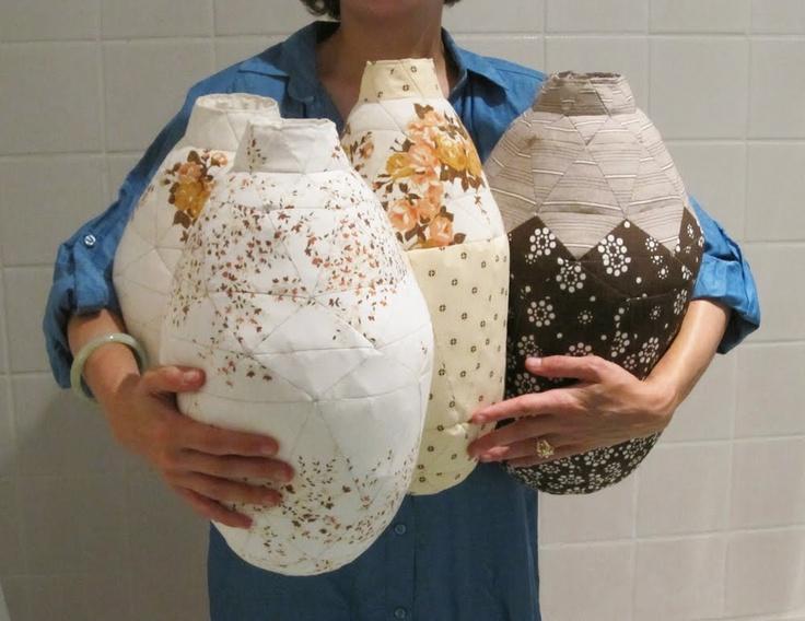 martine myrup - patchworked urns/vases
