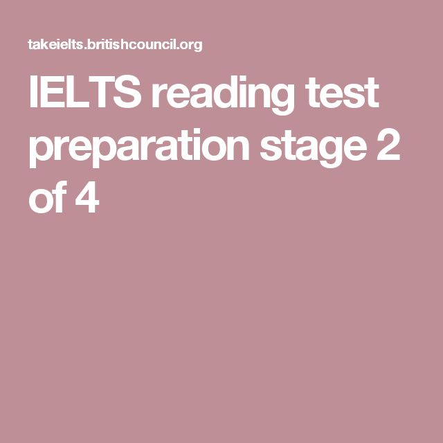 IELTS reading test preparation stage 2 of 4