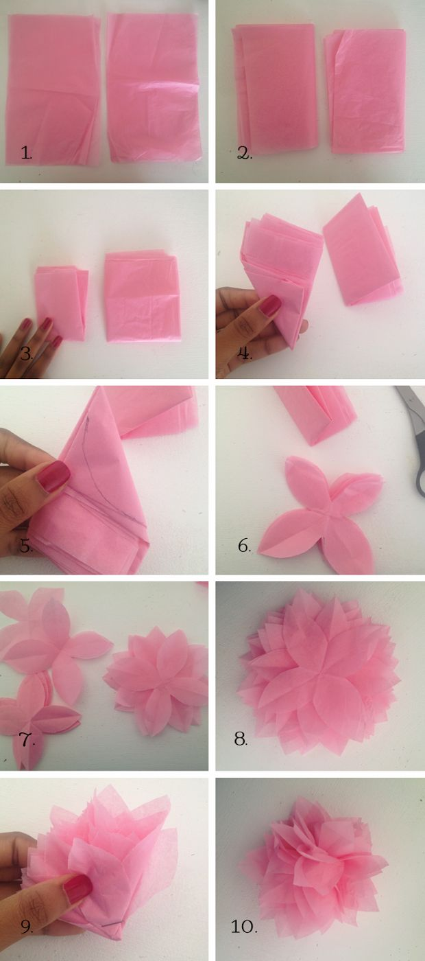 Small paper flowers craft - Lace Pearls And Chocolate Diy Tissue Paper Flower