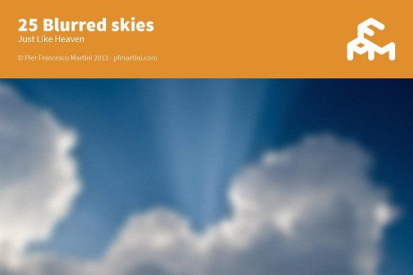 25 Blurred skies by MARTINI Type Designer on @creativemarket