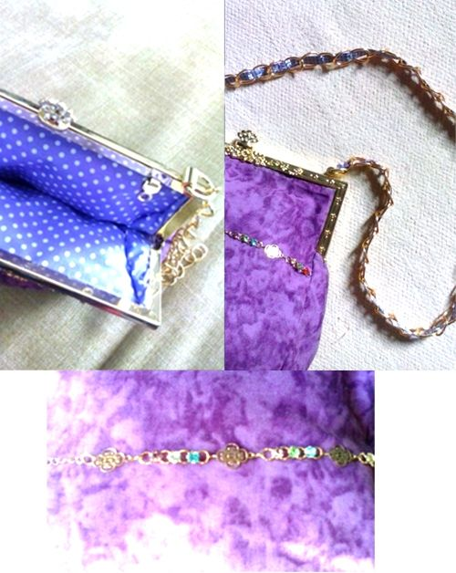 Everyday purple and violet purse