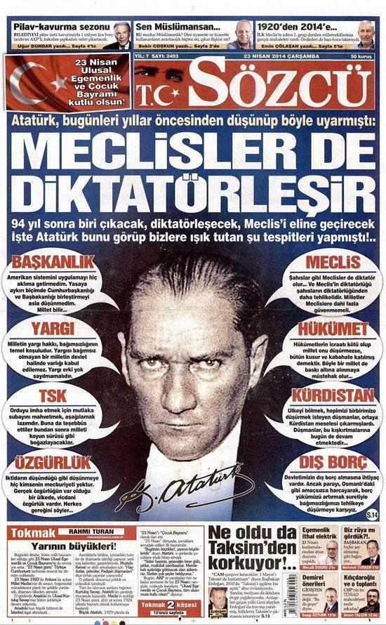 Uzay çağına rağmen idrak edememişlerin aksine, Cumhuriyet'in kuruluşunda tehdidi öngörebilen dahi liderdir Atatürk!