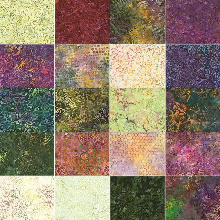 """Tonga Treats Tuscany - Batik Charm Pack - 5"""" Inch Precut Fabric Squares - Treat-Mini Tuscany - Timeless Treasures by Jambearies on Etsy"""