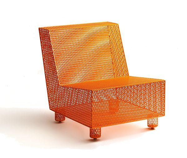 Chair No. 35 in Orange: Damian Velasquez: Metal Chair - Artful Home