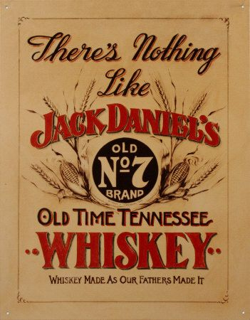 Jack Daniel's Whiskey Tin Sign at AllPosters.com