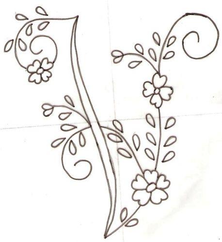 Letras del abecedario para bordar a mano - Imagui