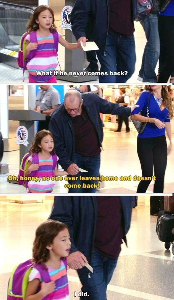 Seriously one of my favorite Modern Family quotes, ever. I seriously fell off my bed laughing.