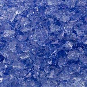 Stone Landscape Fire Glass Margo Garden Products 1//2 in 10 lb Medium Blue Hawaii