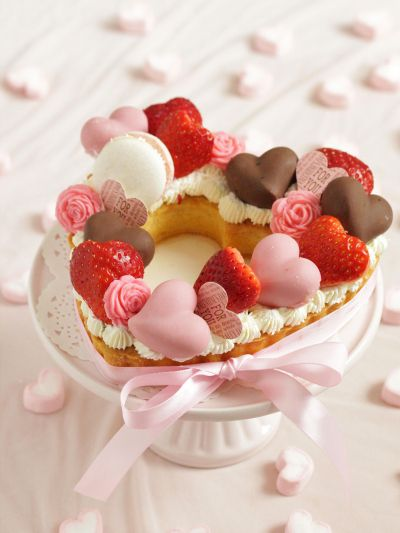 「【VD2018】*バレンタイン♡ハートのリースタルト♪」cherry♪ | お菓子・パンのレシピや作り方【cotta*コッタ】