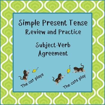 Brief review of form and use for simple present tense and subject verb agreement. Great for ESL. Many English language learners, including advanced students, have difficulty mastering this structure, so this is a good short review with a variety of practice activities to help master this tense.