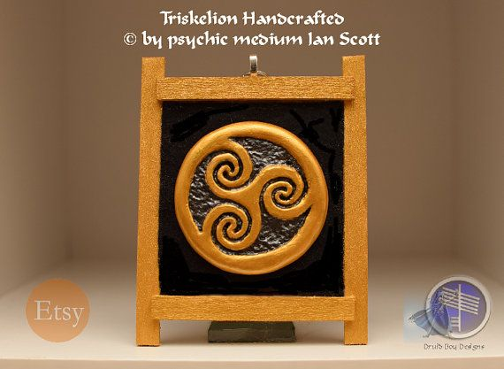 Celtic Triskelion Symbol Wall Hanging by DruidBoyDesigns on Etsy