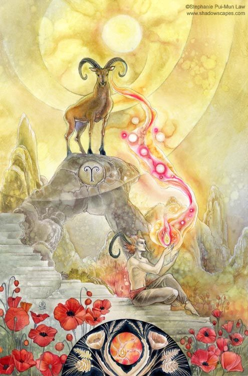 The Ram.    Impulsive, takes the initiative, and determined. The sparking flame of assertiveness.