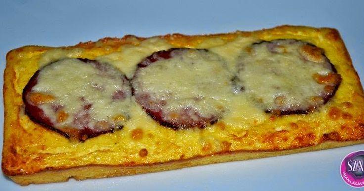 """Túró alapú """"szénhidrátmentes"""" pizza"""