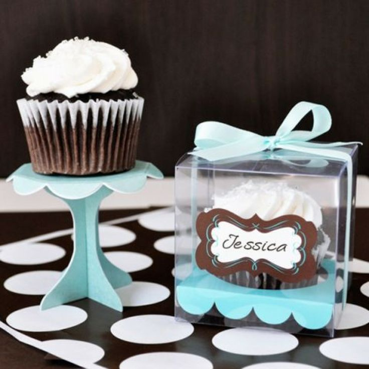 Cupcake Favor Boxes (set of 12) [EB2201 Cupcake Favor Boxes] : Wholesale Wedding Supplies, Discount Wedding Favors, Party Favors, and Bulk Event Supplies
