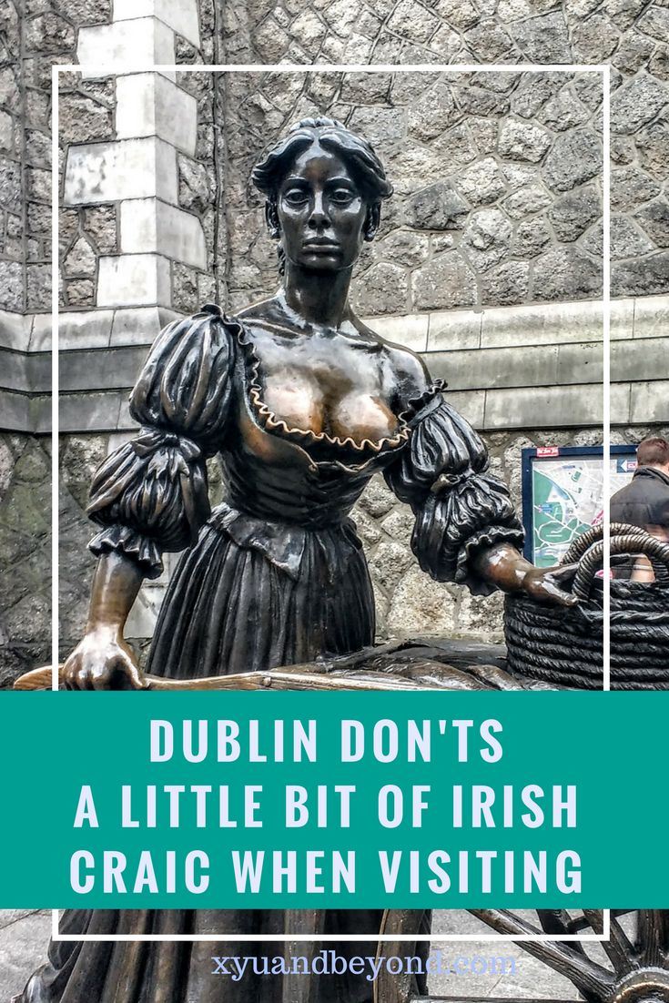 When you visit Dublin there are things you should not do and this list will help a little, so here are my 15 Dublin Don'ts. #ireland #dublin #visitireland #tourireland #whattodoinireland #whatnottodoindublin #irriscraic