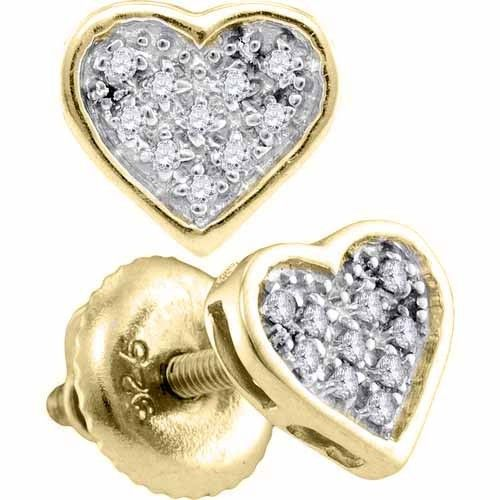 This beautiful pair of earrings is micro-pave set with brilliant round diamonds weighing .05 Carats total. The diamonds are an amazing white G-H color and I clarity. FREE Shipping, a Gift Box, and a Professional Appraisal Certificate, accompanies each purchase. This piece of fine jewelry is available in Yellow Rhodium Plated or White Rhodium Plated at no additional charge.