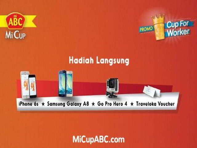 Promo Cup For Worker Berhadiah Langsung iPhone 6s - Hai sobat MisterKuis! Mi Cup ABC lagi mengadakan promo berhadiah langsung iPhone 6s, Samsung Galaxy A8