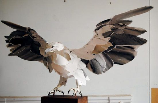 Anna Wili highfield paper sculpture entitled 'white bellied sea eagle': Eagle, Paper Animal, Paper Art, Paperart, Paper Sculptures, Anna Wili Highfield, Birds, Artist Anna Wili