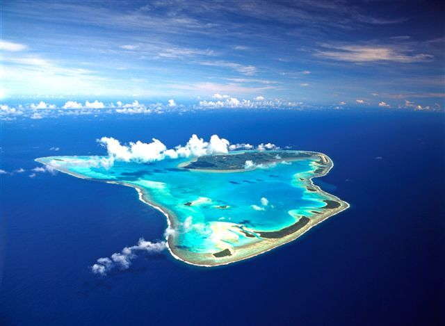 Aitutaki, Cook Islands, South Pacific Tudo aZuL....inesquecivel