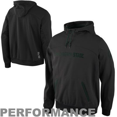Nike Michigan State Spartans Basketball Performance Hoodie - Charcoal - XXL - fanatics.com