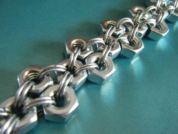 Men's Crossed Hardware Bracelet by Edoesnotexist on Etsy