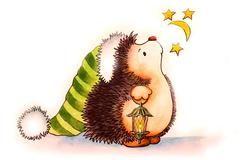 Needlepoint canvas 'Cute Hedgehog'