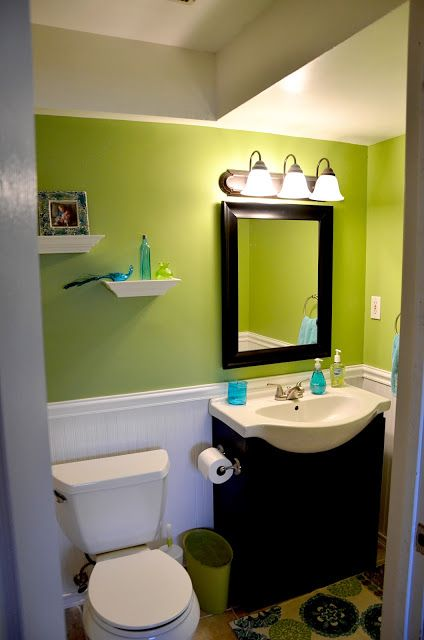 16 best chair rail and wainscoting images on pinterest for Bathroom chair rail ideas