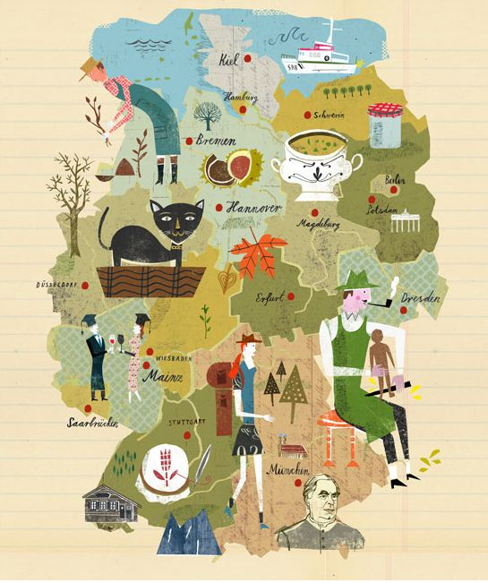 travel illustration by martin haake berlin