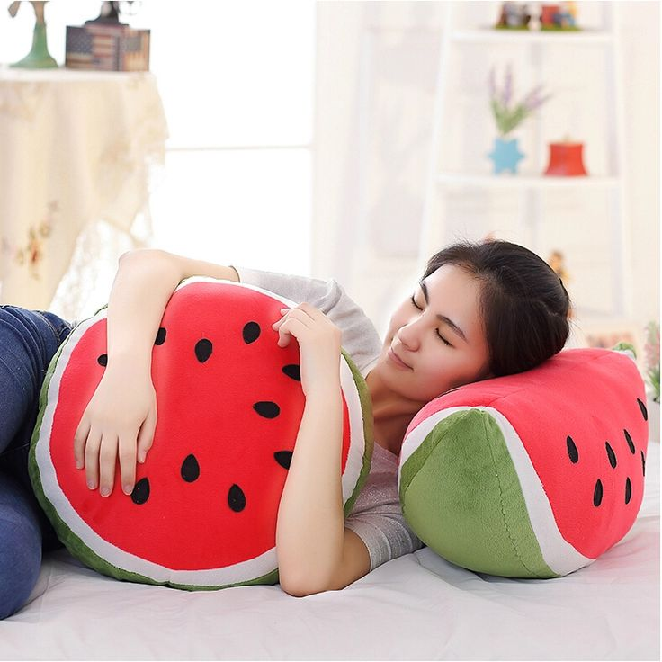 Hot Sale Fruit Plush Toy Plush Watermelon Pillow Creative Toy Doll Christmas Gifts Birthday Gift