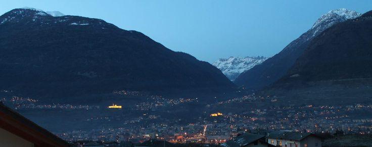 Vista su Sondrio (media Valtellina) dal nostro Hotel