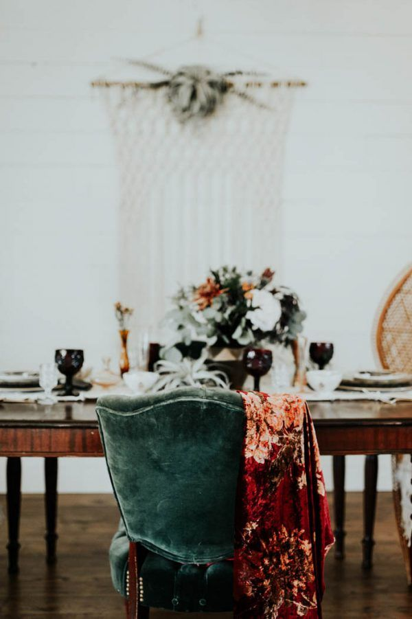 Eclectic Romantic Wedding Inspiration at The Chapel at Southwind Hills