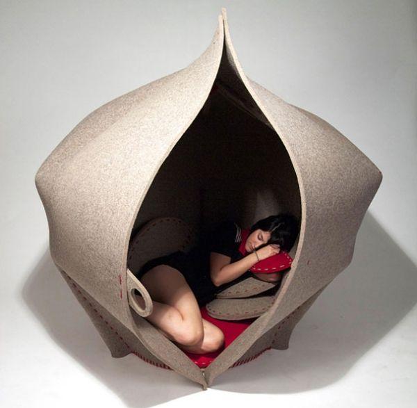 Designer Möbel Sorgen Ruhe Entspannung Relaxen Mehrere Kissen